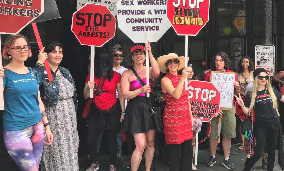 SWOP Seattle protest June 2019