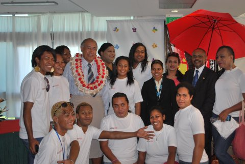 Launch of IBBS report in Fiji in 2014 (photo courtesy of UNAIDS)