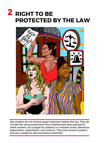 Molly Hankinson design for Right to be Protected by the Law