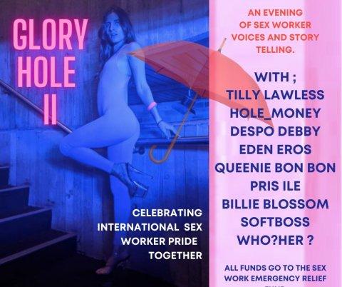 A flyer for Glory Hole II