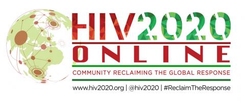HIV2020 Online Logo