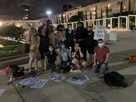 A protest in Israel over the Sex Buyer Law