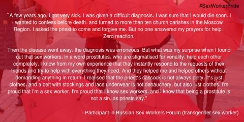Russian Sex Workers Forum Sex Worker Pride
