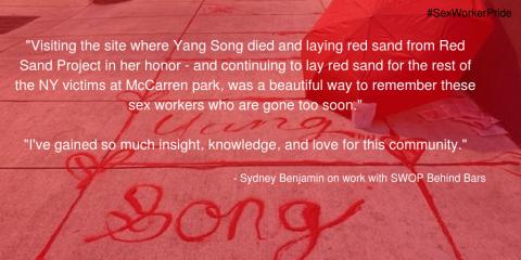 Sydney Benjamin SWOP Behind Bars Sex Worker Pride